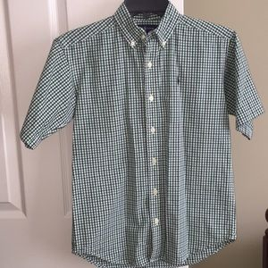 Ralph Lauren boy button down shortsleeve size S